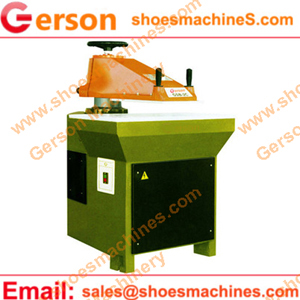 Hydraulic swing arm cutting clicking press with 25 tons pressure